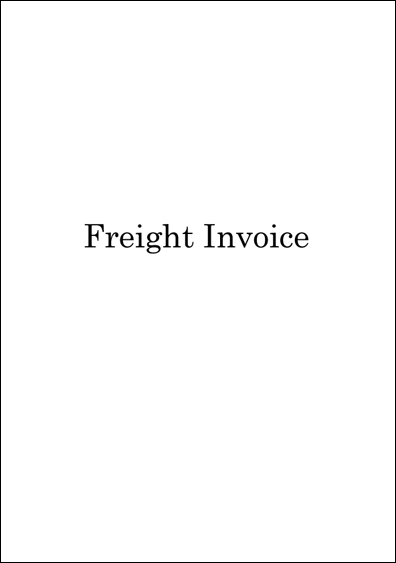 Freight Invoice